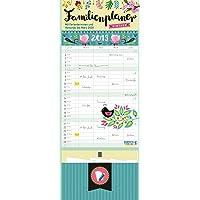 Familienplaner Vintage Zettel 2019: Familienkalender, 4 große Spalten. Familientimer mit Ferienterminen, extra Spalte, Vorschau für 2020, Stifthalter und Zetteltasche. Format: 19 x 47 cm