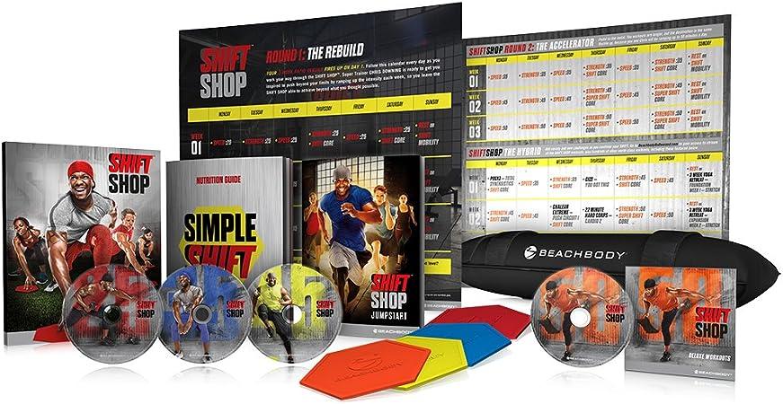 Beachbody Shift Shop The 3 Week Rapid Rebuild Dvd Workout Program Base Deluxe Kit Sports Outdoors