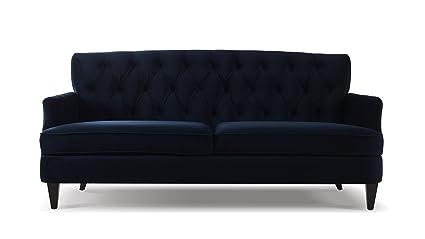 Jennifer Taylor Home 63170 3 872 Kelly Sofa, Dark Navy Blue