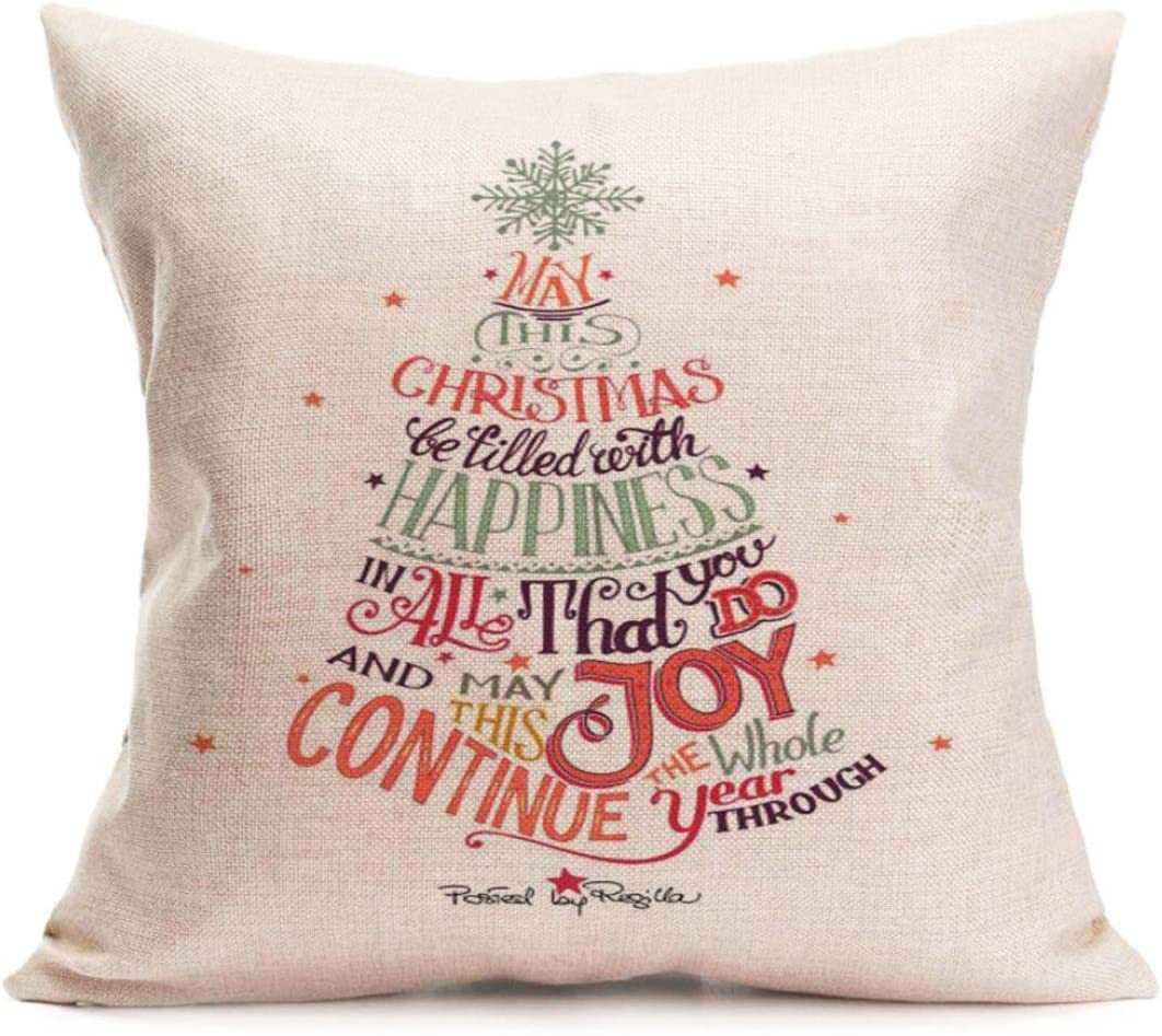 Christmas Xmas Printing Dyeing Throw Pillow Case Cushion Cover Home Decor Gift v