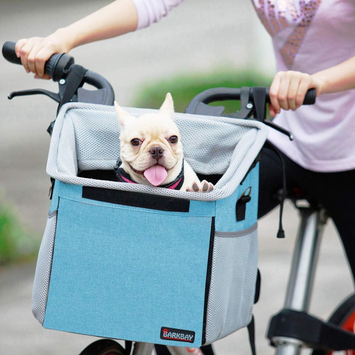 Bicycle Basket Folding Bike Front Handlebar Pet Carrier Frame Shopping Bag R3S7