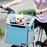 Pet Carrier Bicycle Basket Bag Pet Carrier/Booster Backpack for Dogs and Cats with Big Side Pockets,Comfy & Padded…