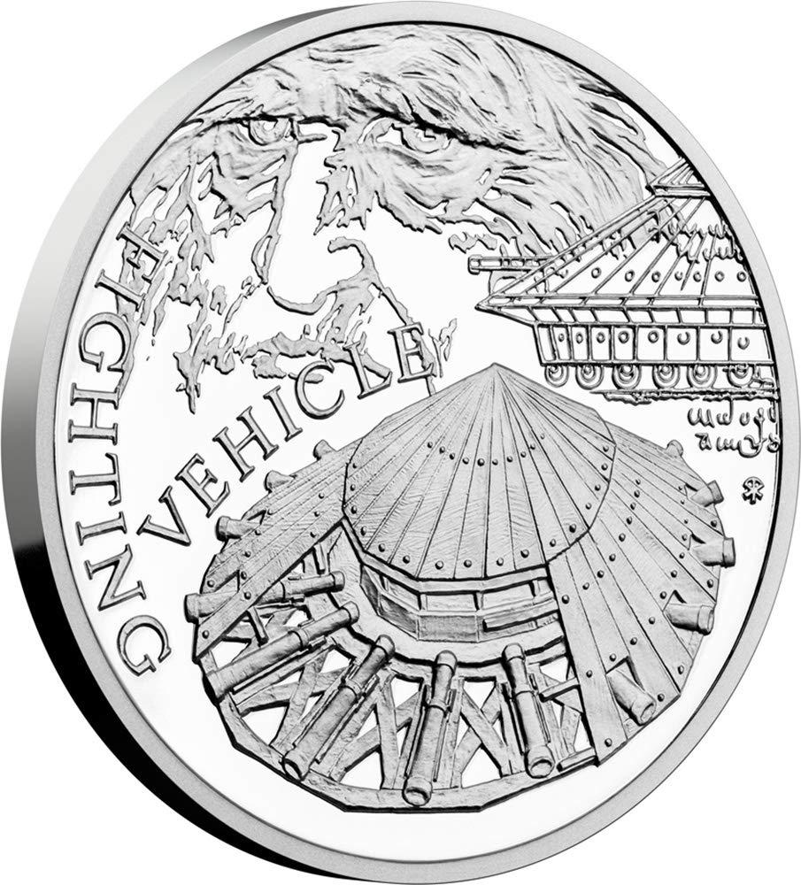 AERIAL SCREW 500th Anniversary Leonardo Da Vinci 1 Oz Silver Coin 1$ Niue 2019