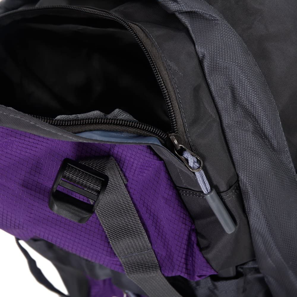 Aihomlk 50L Outdoor Waterproof Nylon Hiking Camping Backpack Black
