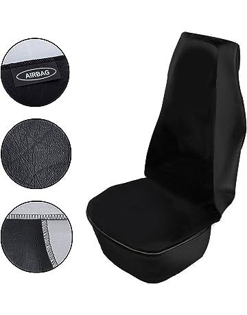 Brandsseller Universal Autositzauflage Autositzbezug Autositzschoner Vollbezug Baumwolle Einzeln Schwarz