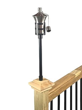 lighting tiki torches. Tru-Post Oil Lamp (Tiki Torch) With 2\u0026quot; Universal Wood Deck Or Lighting Tiki Torches