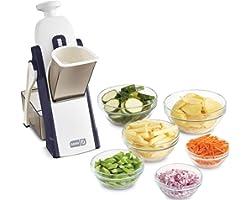 Dash Safe Slice Mandoline Slicer, Julienne + Dicer for Vegetables, Meal Prep & More with 30+ Presets & Thickness Adjuster - M