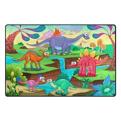 amazon com florence magic dinosaurs landscape area rug non slip