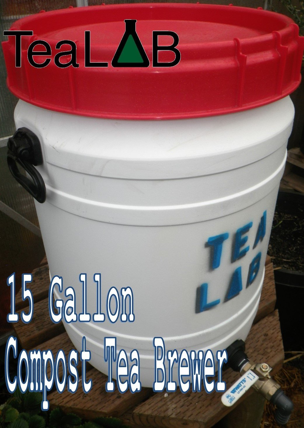 Compost Tea Brewer : 15 Gallon : Convenient Size for the Avid Home Gardener. by TeaLAB