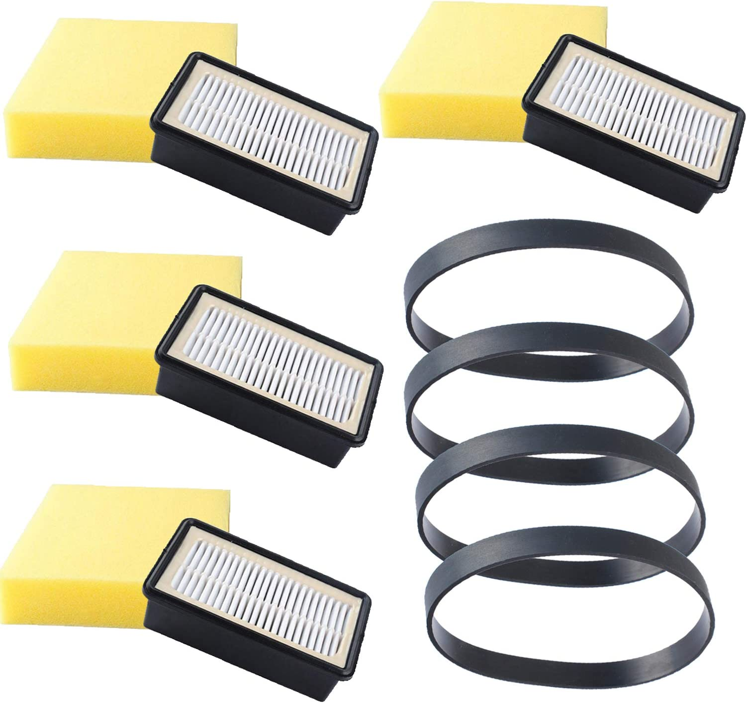 1008 Filters & 3031120 Belts for Bissell 9595A CleanView Upright Vacuums Style 7 9 10 12 14, 1330 1331 1332 1413 8531 9595 12151 Pre-Motor and Post-Motor Filter, Replace Part Number 1601502 & 2032663