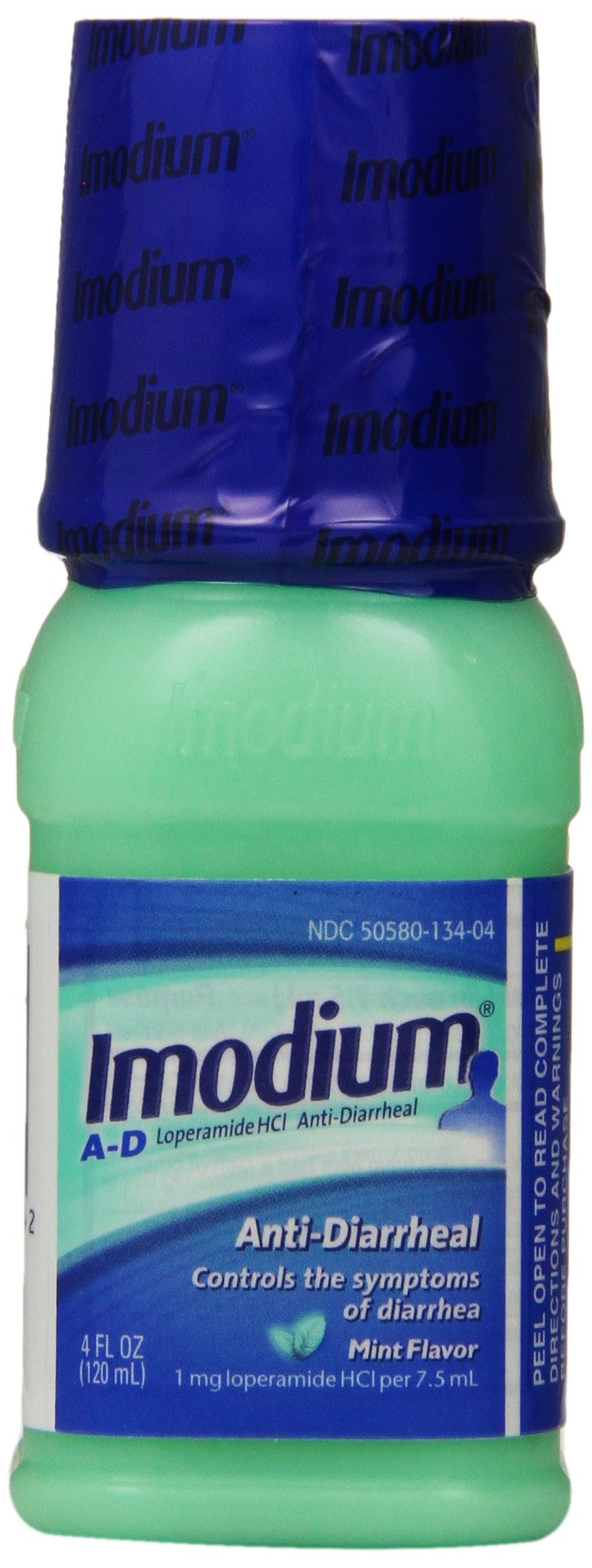 Imodium A-D Anti-Diarrheal Liquid, Mint Flavor, 4 Fluid Ounce (Pack of 36) by Imodium