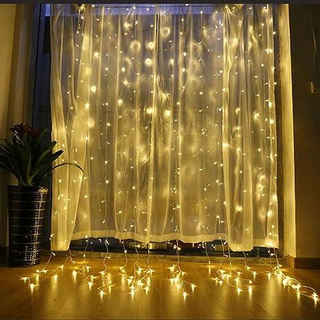 YKUNLED Led Window Curtain Icicle Lights 600LEDs 196x98ft 6mx3m String