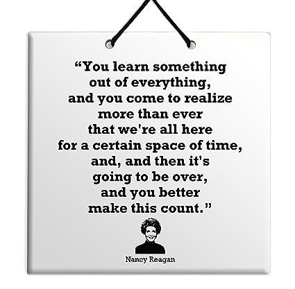 Amazoncom Body Soul N Spirit Quotes Nancy Reagan Life Famous Quote