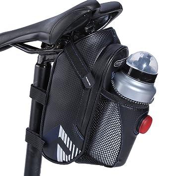 Alomejor - Sillín para Bicicleta (Impermeable, con Bolsillo para ...