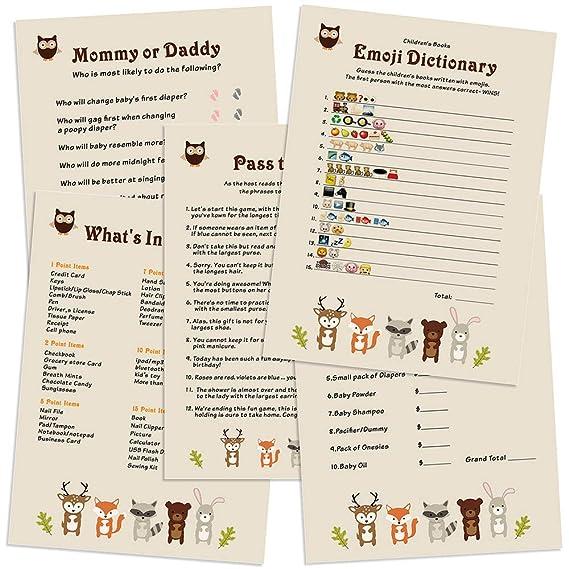 Amazon.com: Woodland Animals – Juego de tarjetas de fiesta ...