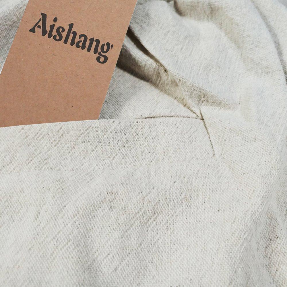 Aishang Men's Patchwork Shorts Elastic Waist Linen Loose Pocket Capris Joggers Harem Pants by Aishang (Image #7)