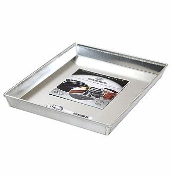 Moldes para hornear Agnelli rectangular de aluminio de aleación 3003, altura de 3 cm, de plata, 50x35 cm: Amazon.es: Hogar