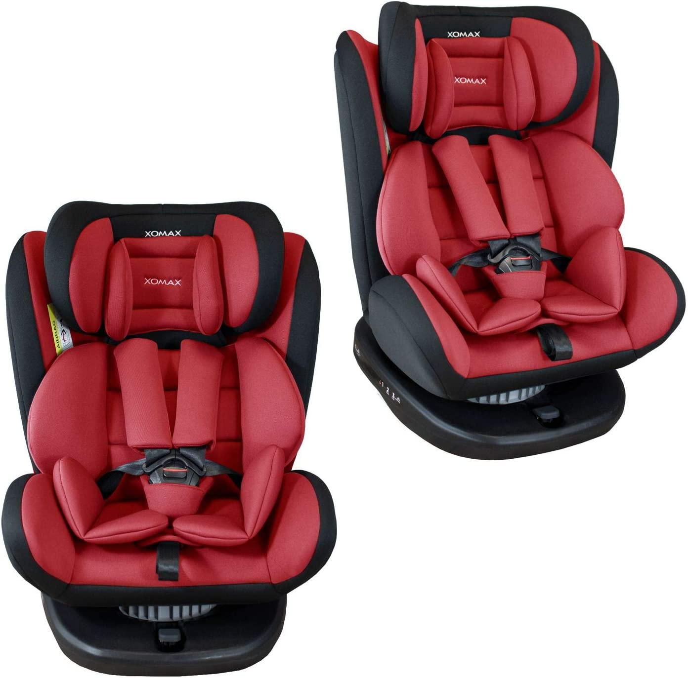1-12 years washable I ECE R44//04 group 0//1//2//3 I 5-point harness and 3-point harness I cover removable XOMAX 916 Child car seat with 360/° rotation /& ISOFIX I growing with your child I 0-36 kg