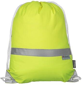 284fee16a540e Salzmann Reflektierender Turnbeutel Sportbeutel 3M Scotchlite Neon Gelb