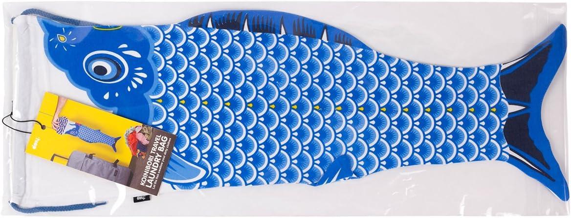 DOIY Koinobori Travel Laundry Bag (Blue)