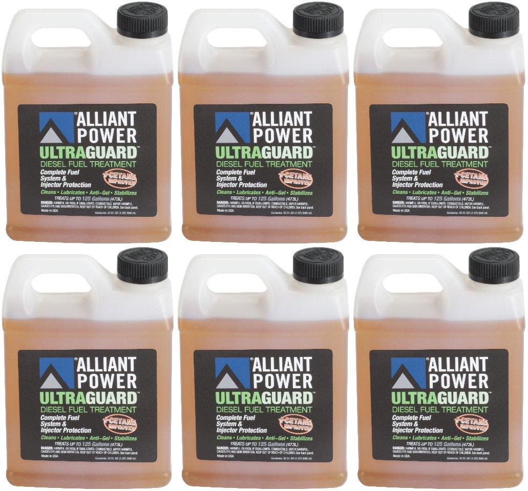 Alliant Power ULTRAGUARD Diesel Fuel Treatment - 6 Pack of 32 oz Jugs # AP0502 by Alliant Power