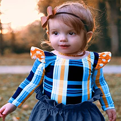 1b350a7b2 Amazon.com: ZHANGVIP 2Pcs Infant Toddler Kids Baby Girl Lattice Backless  Romper Tops+Denim Skirt Shorts Outfits Clothes Set: Clothing