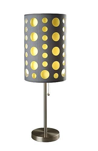 Ore International 9300T-GY-YW Modern Retro Table Lamp, 33-Inch, Grey Yellow