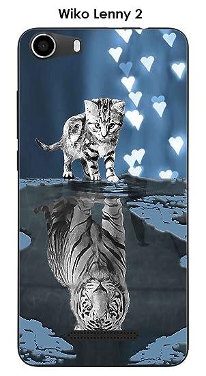 Onozo Carcasa Wiko Lenny 2 Design Gato Tigre Blanco Fondo ...