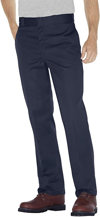 Amazon Com Dickies Hombre Original 874 Pantalon De Trabajo Azul Marino Oscuro 36 W X De Largo Clothing