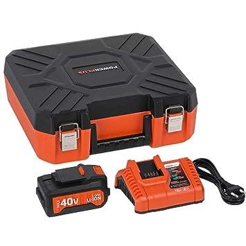 POWERPLUS POWDP9068 - Maletin mas cargador 20v/40v + batería ...
