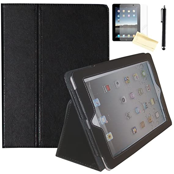 check out e87bf 7d3d5 JYtrend iPad 2 / iPad 3 / iPad 4 Case - Folio Stand Magnetic Smart Cover  for Apple iPad 2/3/4 with Auto Wake / Sleep (Black)