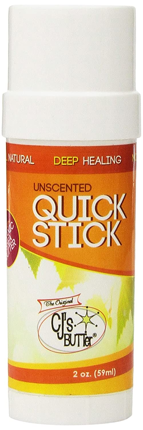 CJ's All Natural Original BUTTer Stick (Unscented, Large 2oz) The Original CJ' s BuTTer