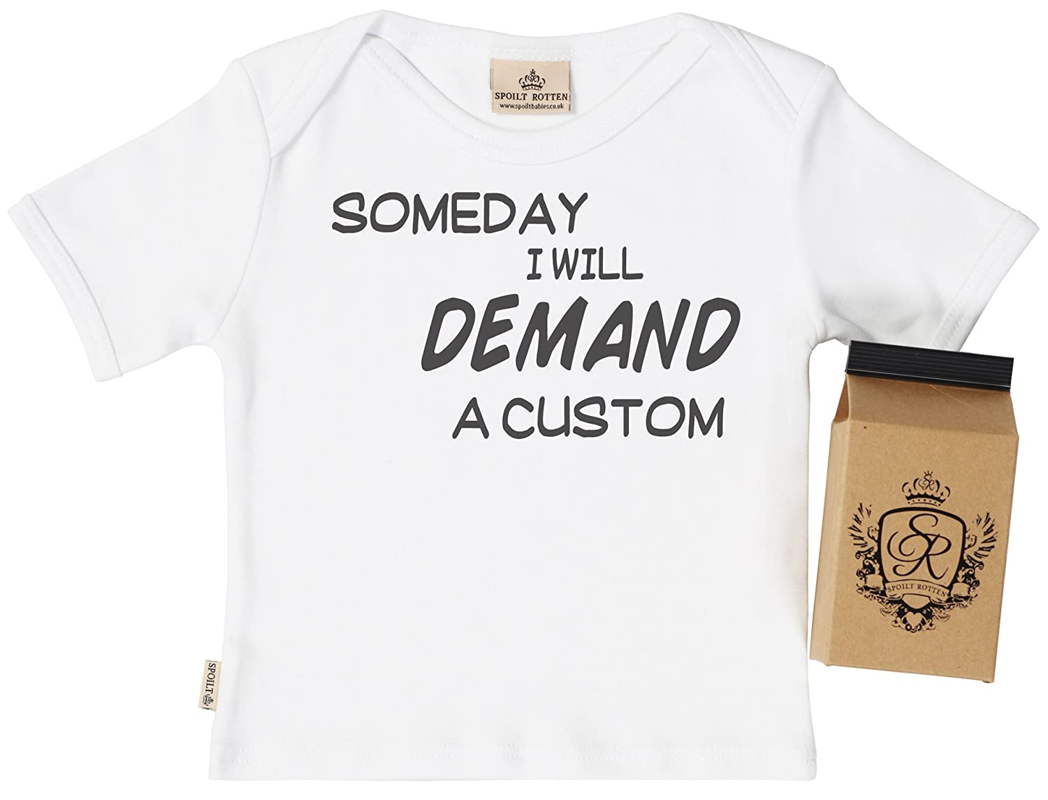 Baby T-Shirt Baby T Shirt Gift Boxed PERSONALISED I Will Demand A. Personalised Baby Clothing Baby Top SR