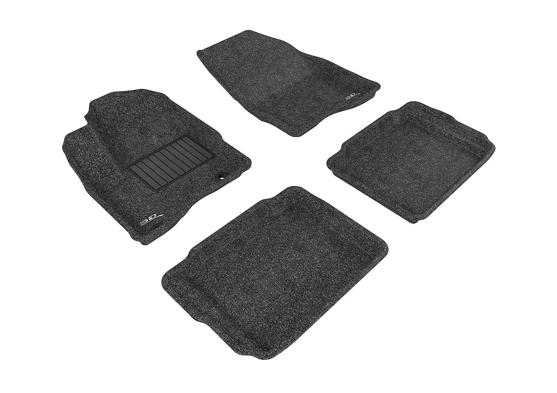 3D MAXpider Complete Set Custom Fit Floor Mat for Select Ford Taurus Models L1FR01802209 Classic Carpet Black