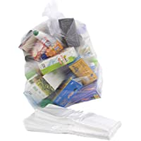 Bag It Plastics Clear Recycling Bags Sacks Refuse Rubbish 64 Gauge - Pack of