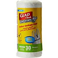 Glad Garbage Medium White Handle 30 Bags, 35 Liters