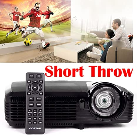 nierbo Proyector Ultra corto 1080P Throw 7500 lumens 15000: 1 ...