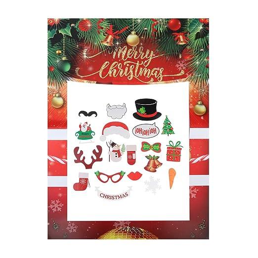 Happyyami 20 Piezas Merry Christmas Marco Photocall Cabina ...