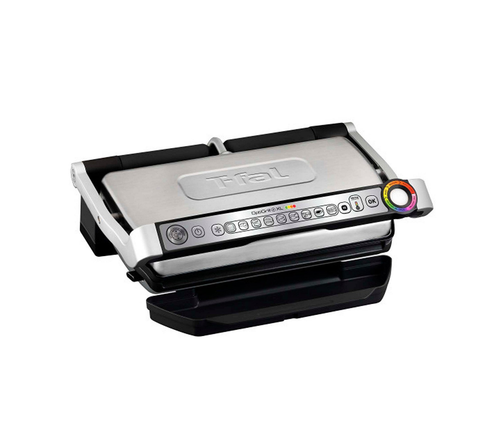 Large Electric Grill ~ T fal gc d w optigrill xl stainless steel large