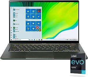 "Acer Swift 5 Intel EVO Thin & Light Laptop, 14"" Full HD Touch, Intel Core i7-1165G7, Intel Iris Xe Graphics, 16GB LPDDR4X, 1TB NVMe SSD, Wi-Fi 6, FPR, Back-lit KB, Antimicrobial, SF514-55TA-74EC"
