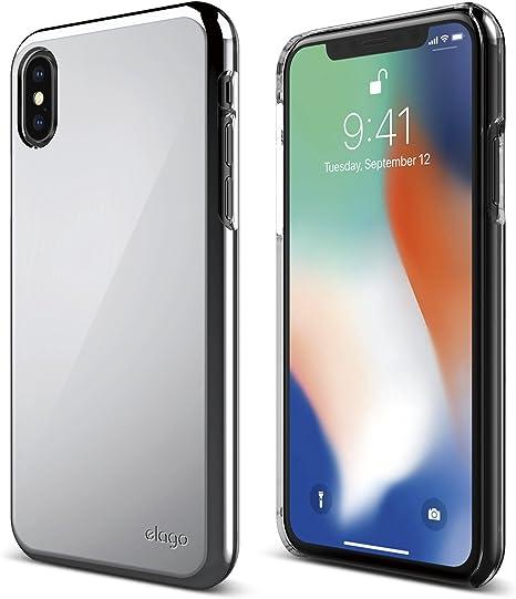 Amazon Com Elago Slim Fit 2 Series Iphone Xs Iphone X Case Durable Scratch Resistant Coat Minimalistic Designed Protective Cover For Apple Iphone Xs 2018 Iphone X 2017 Chrome