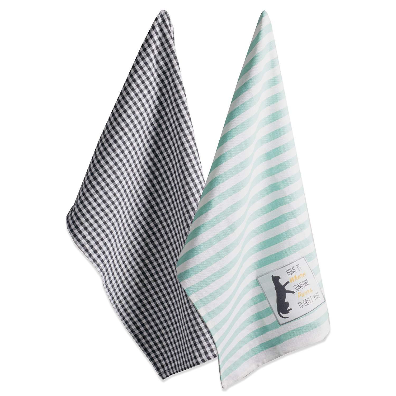 DII CAMZ10622 Dish Towels, Dishtowel, Cat Greeting (2)