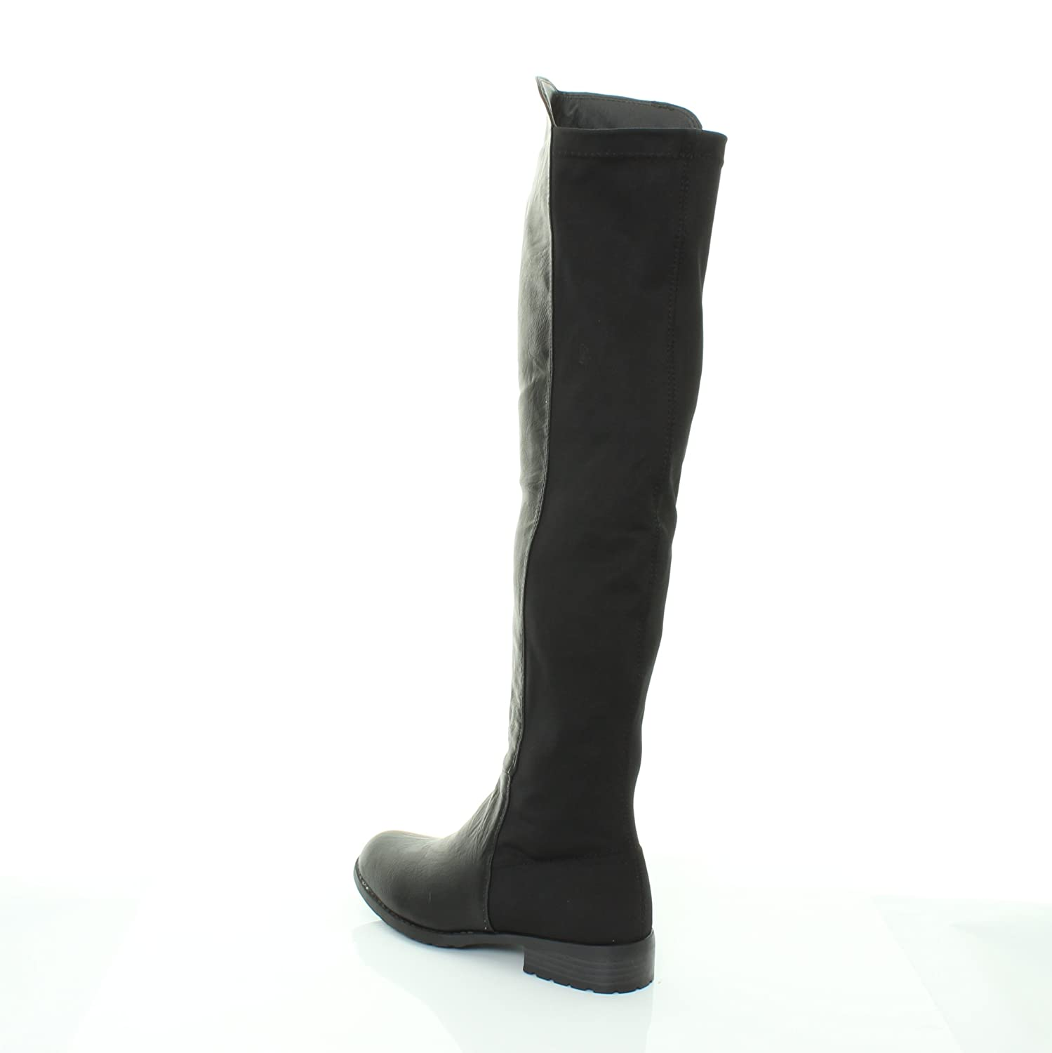 d4df8f7a59f30 NEW HT45 LADIES WOMENS WIDE LEG CALF STRETCH OVER KNEE THIGH HIGH FLAT  BOOTS SHOES SIZE 3 4 5 6 7 8 (UK 9