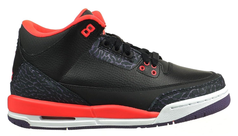 pretty nice fed0e 69046 Amazon.com  Jordan Air 3 Retro (GS) Big Boys  Shoes Black Bright Crimson-Canyon  Purple-Pure Platinum Black Bright Crimson-Canyon Purple-Pure Platinum ...
