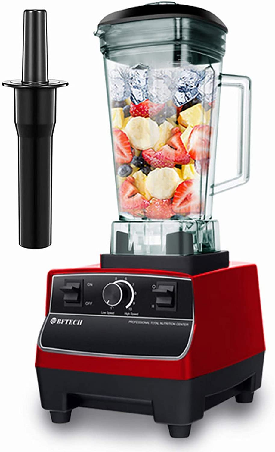 BFTECH PB2200 Explorian Blender Professional-Grade Commercial 2L 2200 Watt ,Total Crushing Technology for Smoothies, Ice and Frozen Fruit (Red)
