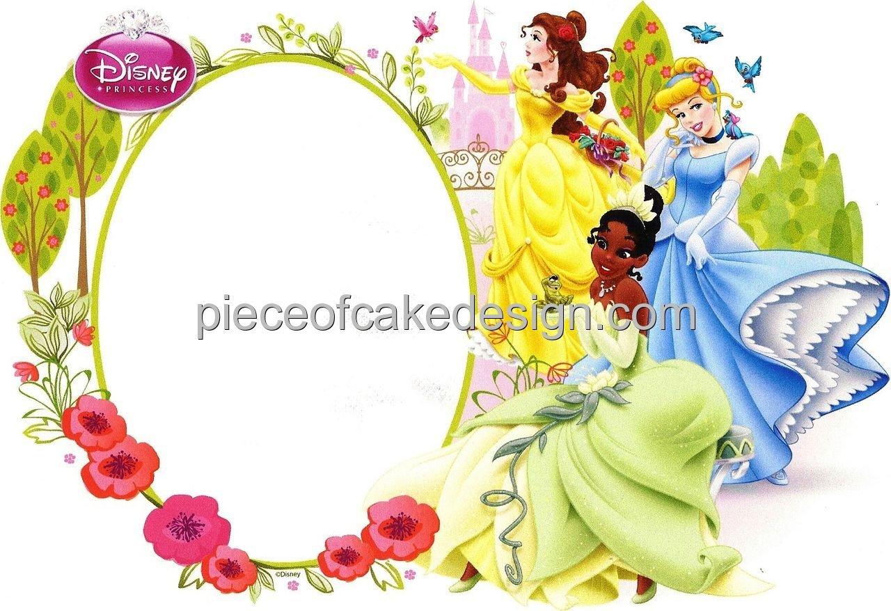Amazon.com : 1/4 Sheet ~ Disney Princess Photo Frame Birthday ...