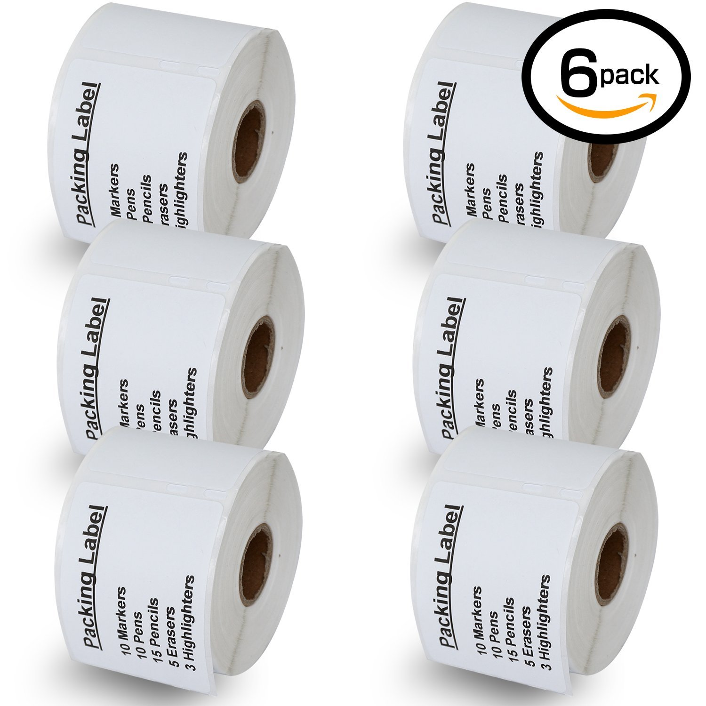 6 Rollen Dymo 99015 kompatibel 54mm x 70mm gro/ße Multipurpose Etiketten,kompatibel With Dymo 450 450 Turbo 4XL And Many More
