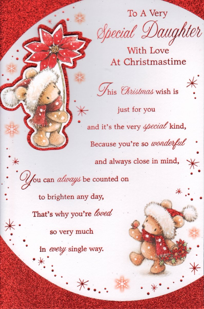 Daughter christmas card to a very special daughter with love at daughter christmas card to a very special daughter with love at christmastime free uk delivery amazon garden outdoors kristyandbryce Images