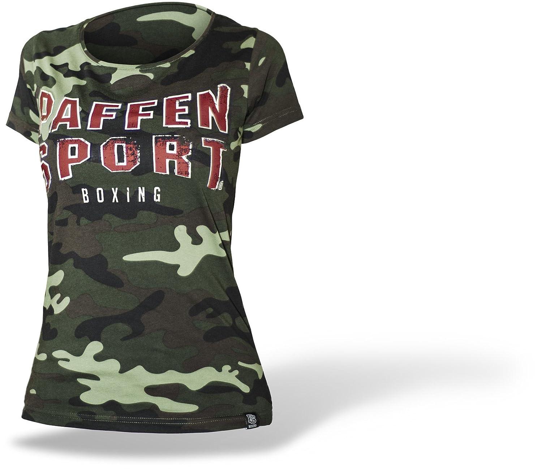 Paffen Sport Vintage CAMO Women/'s T-Shirt im Military-Tarnfleck-Style und gro/ßem Vintage-Logo auf der Brust