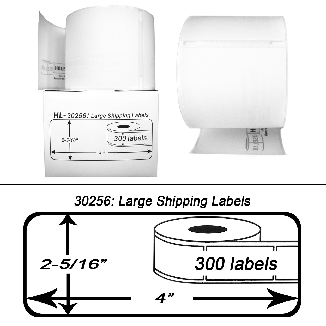 Amazon DYMOCompatible 30256 Large Shipping Labels 2516 – Large Mailing Labels